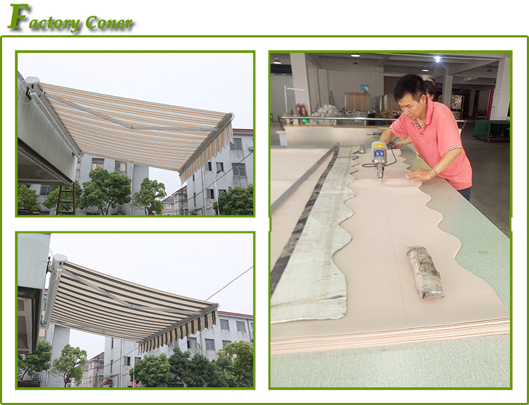 Modern design PU Coated Sail Finishing and Acrylic Sail Material full cassette awning