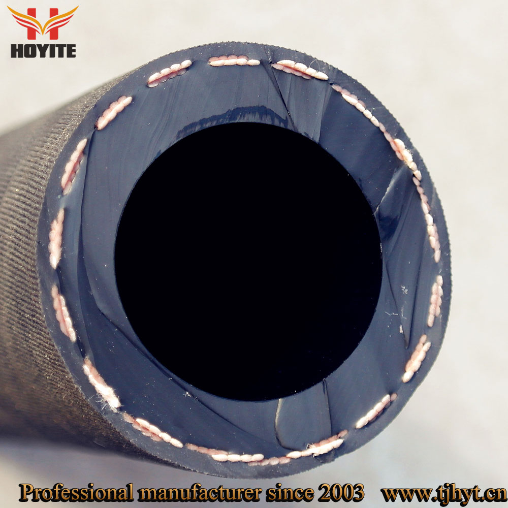 Highly abrasive polyester reinforced sand blast rubber pipe/sand blast rubber hose