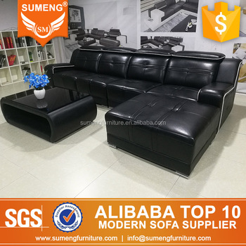 Wondrous Modern Luxury Design Black Comfortable Leather Sofa Set Theyellowbook Wood Chair Design Ideas Theyellowbookinfo