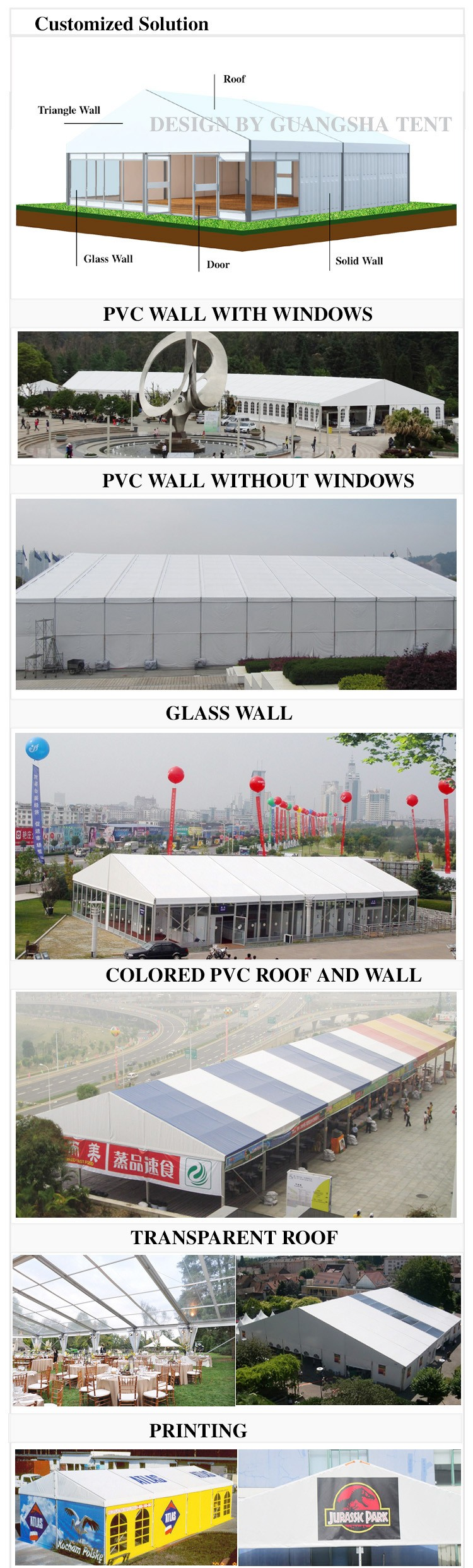 Fancy Party Decorations Large Outdoor Clear Roof Wedding