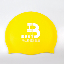 Manufacturer wholesale OEM custom logo printed cheap silicon swim caps