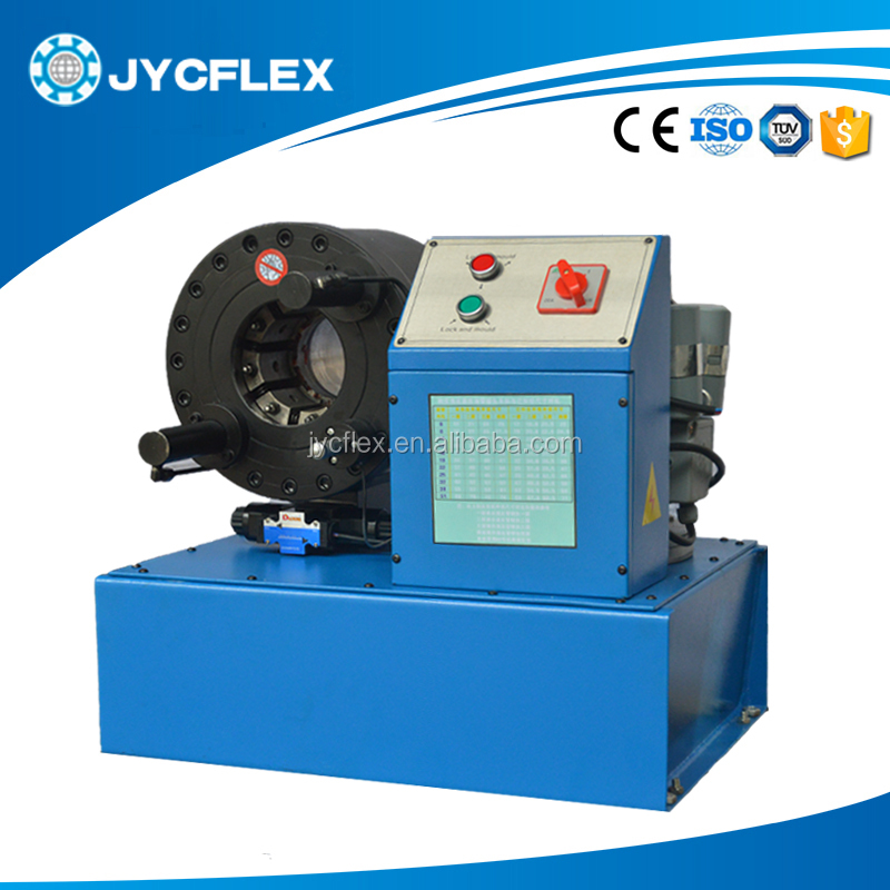 China single wire braid,textile covered hydraulic hose crimping machine