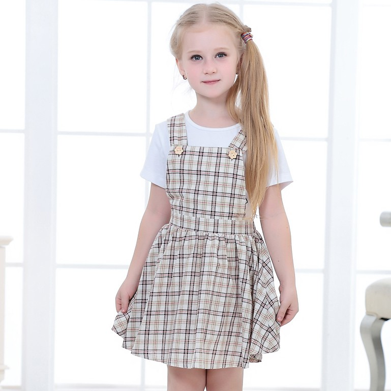 Fashion Kids Clothes Sleeveless Casual Frock Design Dress
