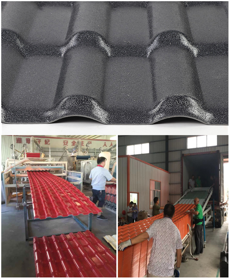 Yuehao plastic roof tiles wholesaler tiles lightweight plastic roof tiles design for water draining-3