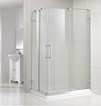 Easy Clean 8mm Shower Enclosure Frameless Design Tempered Gl Sliding Door Bathroom