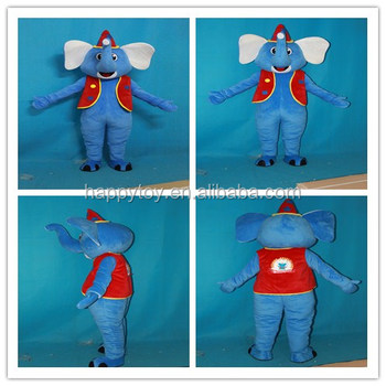 HI CN 71 Blue elephant mascot costumeElephant mascot suits with red hat and vest  sc 1 st  Alibaba & Hi Cn 71 Blue Elephant Mascot CostumeElephant Mascot Suits With Red ...