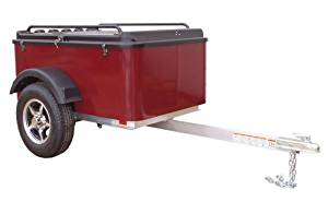 Hybrid Trailer Co. Vacationer - Enclosed Cargo Trailer, 990 lbs. Gross, 30 cu/ft. - Black Cherry