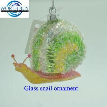 Glitter Dekoriertes Glas Schnecke Einzigartige Weihnachtsschmuck ...