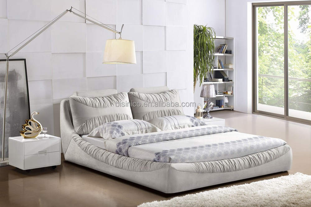 New Product Fashion Winkled Fabric Double Soft Bed