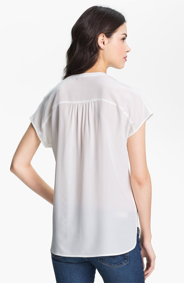 modelos de blusa de cetim de seda