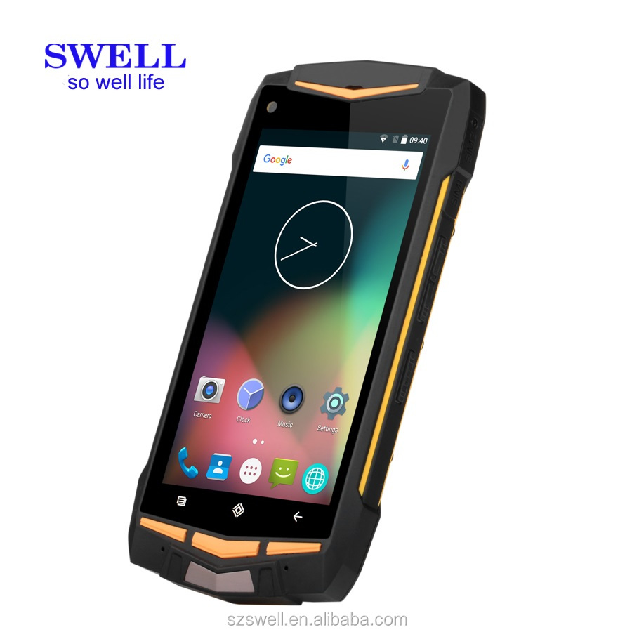 SWELL hot seller V1H Factory direct price Smart Phone Android 6.0 2GB Ram 16GB Rom NFC 4G LTE data rugged smartphone