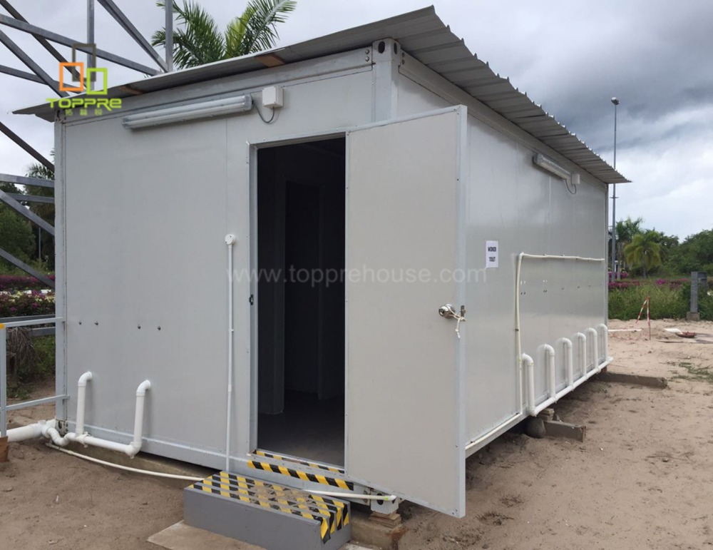 New design outdoor modular prefab knocked down portable container bathroom toilet in indian