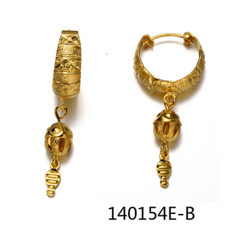 2015 Fashion Indian Design New Model Gold Earrings