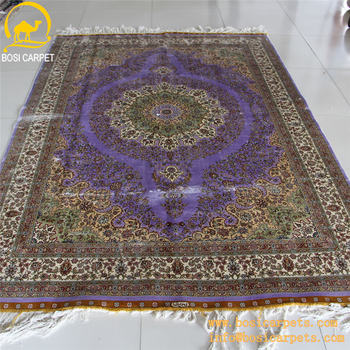 5 5x8ft Purple Silk Hand Knotted On Factory Prices Modern Carpet Design Chinese