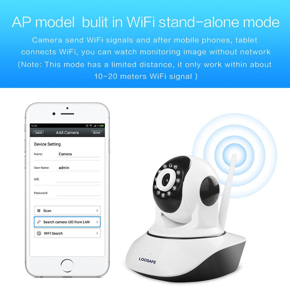 loosafe hd 720p wireless ip camera wifi onvif video. Black Bedroom Furniture Sets. Home Design Ideas