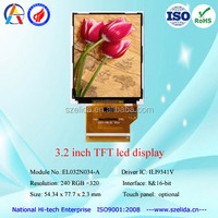 3.2 inch tft lcd display lcd panel 240x320 Dot touch screen 39pin with ILI9341