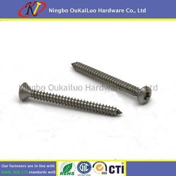 "8"" x 1 1/2"" Stainless Steel 304 Star Drive Oval Head Self Tapping Screws"