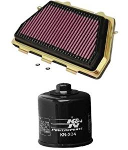 K&N Motorcycle Air Filter + Oil Filter Combo 2008-2014 Honda CBR1000RR HA-1008 + KN-204