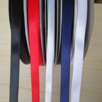 China Market High Quality 3mm 6mm Black Single Face Wide Christmas Decoration Silk Satin Colour Ribbon Band 2 Inch