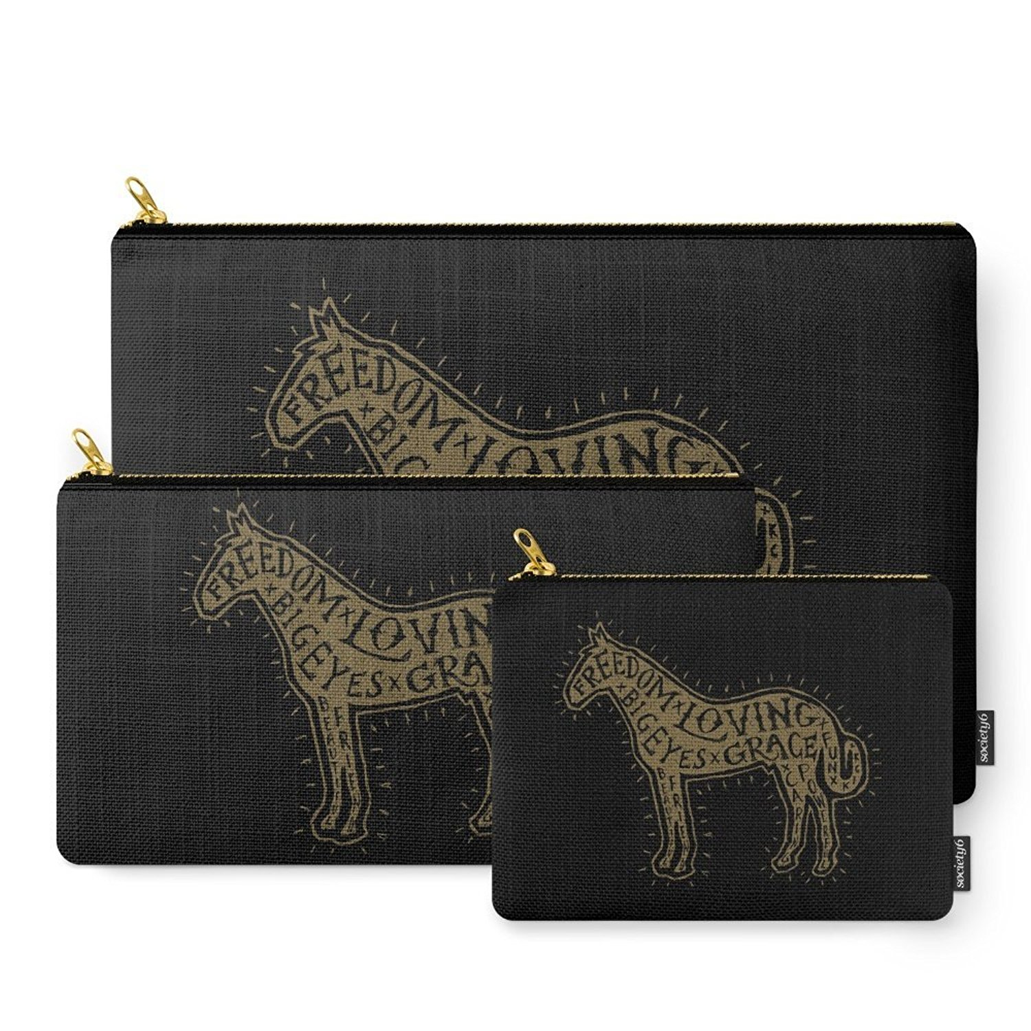 Society6 Horse Carry-All Pouch