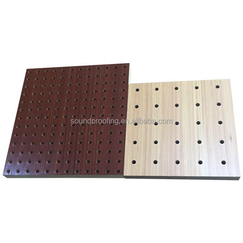 Ac stica tipo de panel ac stico de madera difusor de for Panel perforado madera