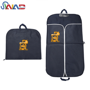 Customized logo luxury garment packaging bags non-woven fabric garment suit bag