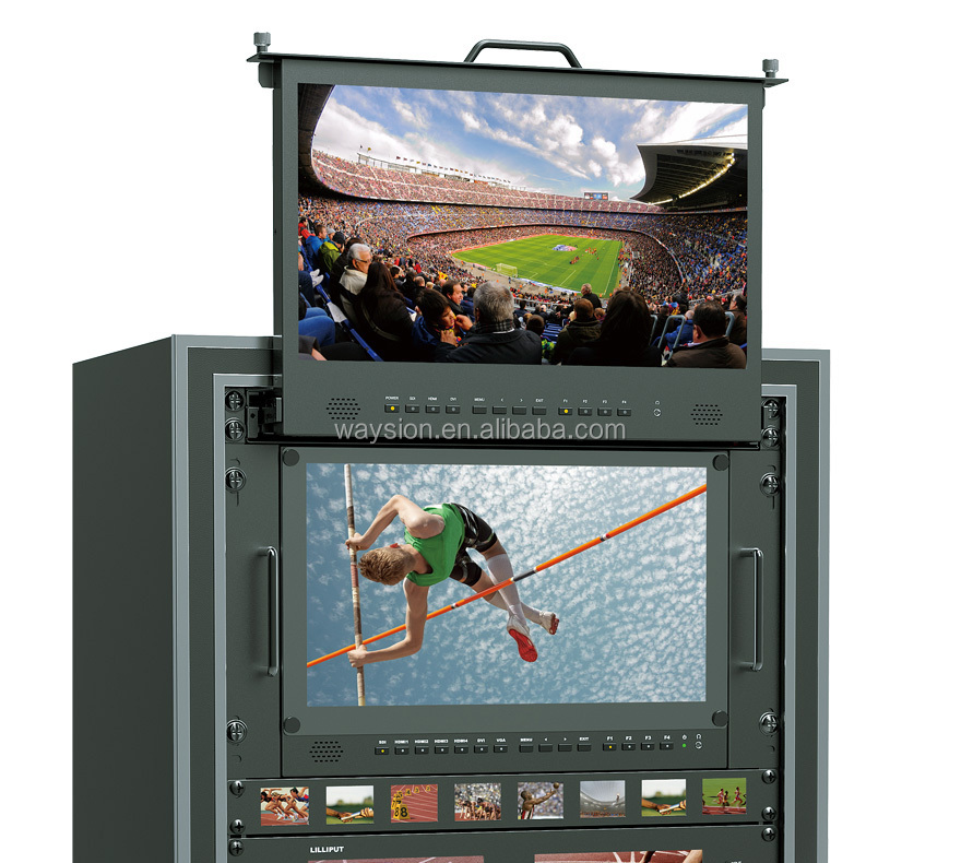 "17.3"" 1920x1200 Full HD SDI pull-out Rack monitor for Directors and DSLR Filmmakers"