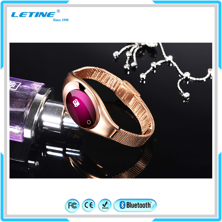 HOT NEW! Jewelly Android Blood Heart Rate Woman Smart Bracelet Rings