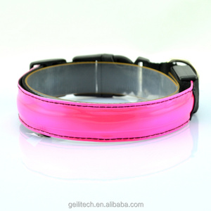 Large supply of stock 8 colors 4 size rechargeable led dog collar