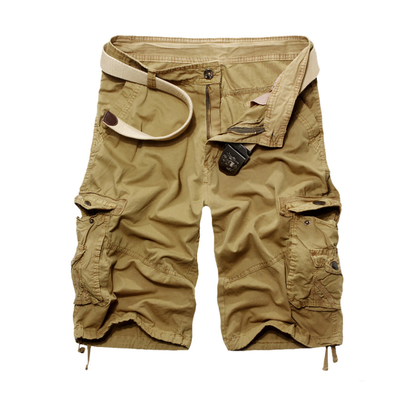 2015 Summer Classic Mens Cargo Shorts Casual Pockets Shorts Sports Military Men Shorts Plus Size Khaki Black Army Green Color