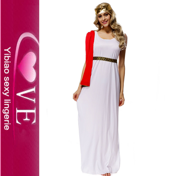 Fancy Dress Attractive Long Gown Pure White Amaya Nymph Costume For ...
