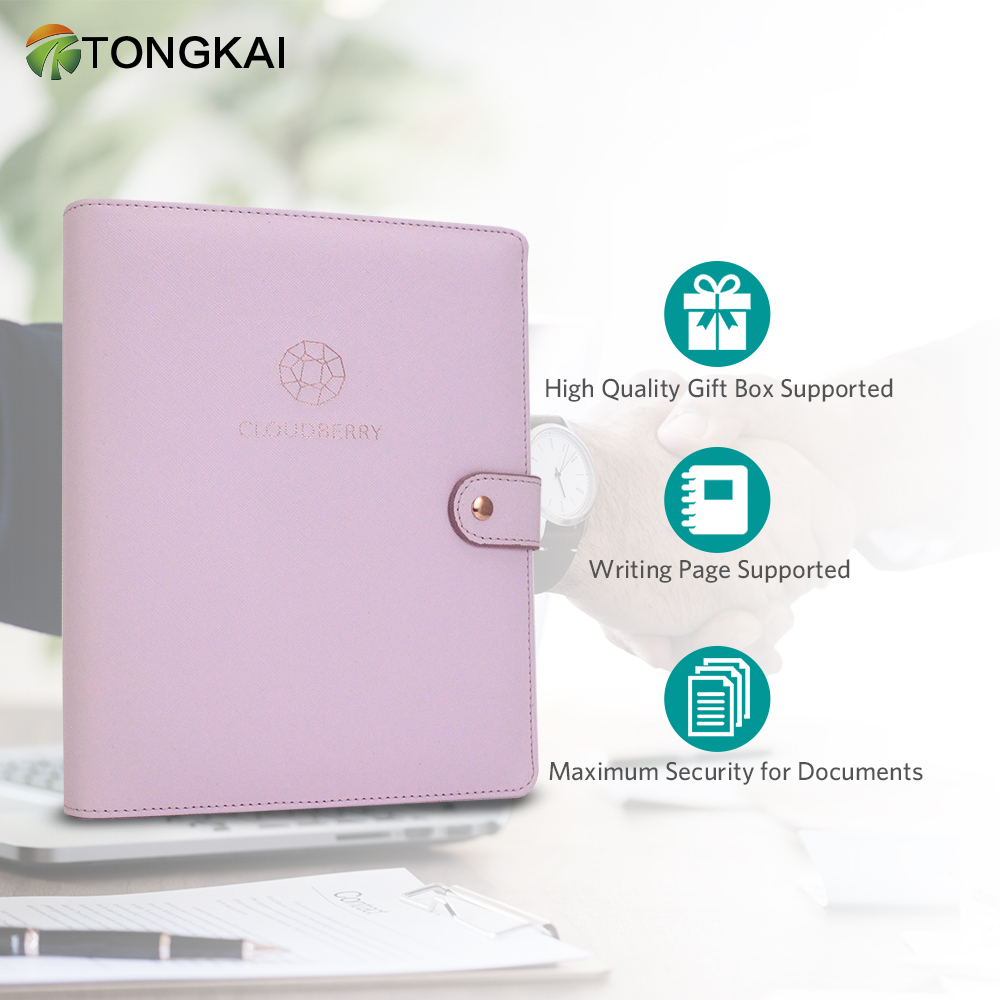 Magnetic Buckle With Card slot Pen Slot 6 Ring Binder Loose-leaf Notebook