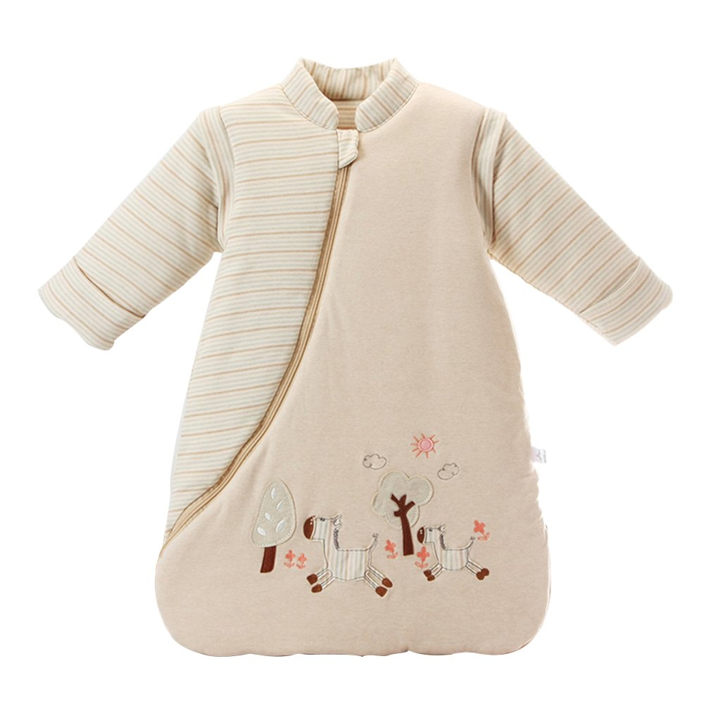 9de68a17b0 Get Quotations · EsTong Unisex Baby Sleepsack Wearable Blanket Cotton  Sleeping Bag Long Sleeve Nest Nightgowns Thickened Winter Medium