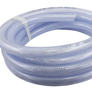 "Non-Toxic Fiber Braided Water Hose pipe Use Food Grade Soft 1/2"" Fiber Braided PVC Clear Water Hoses"