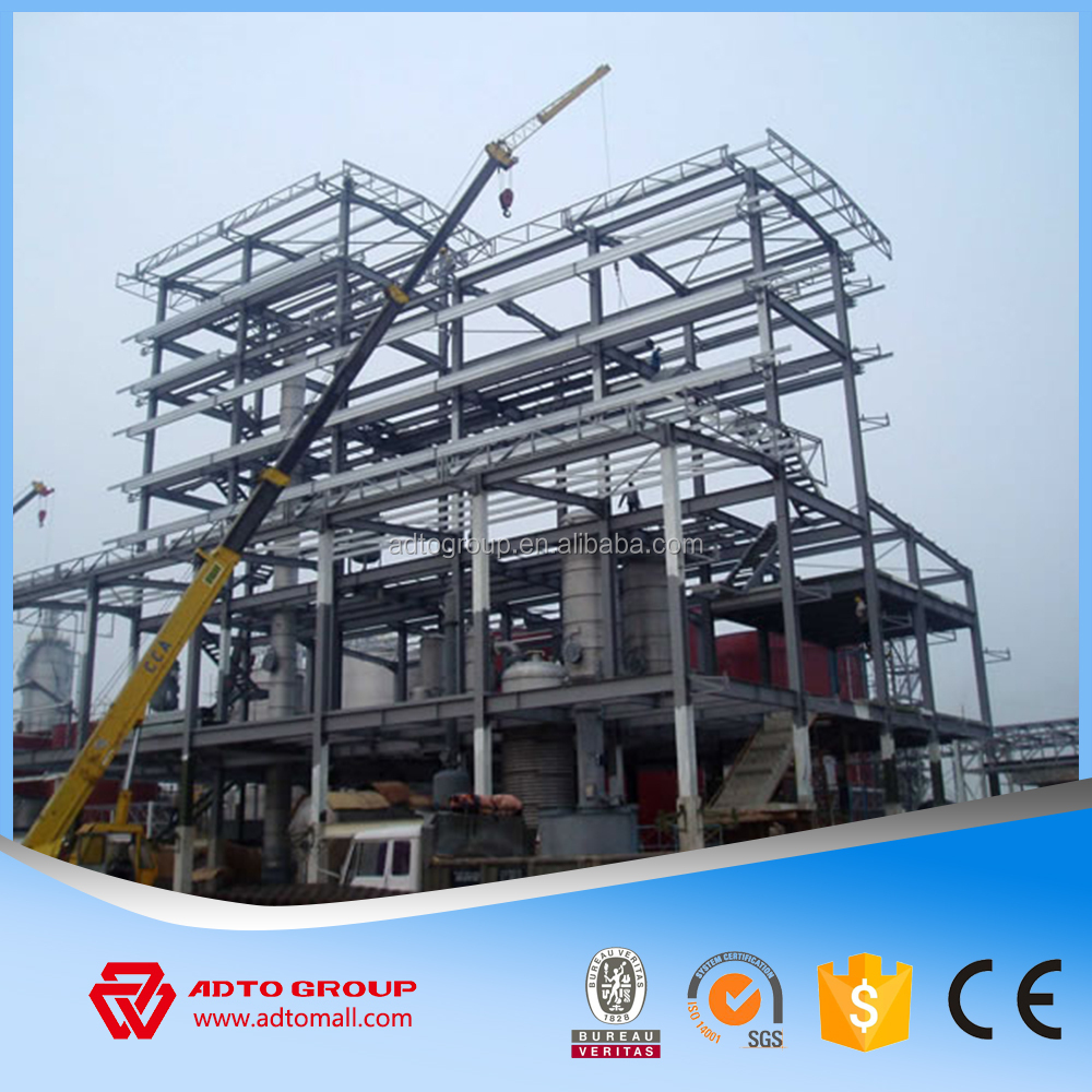 Easy Installation Corrugated Steel-work Structural Steel Frame Metal ...