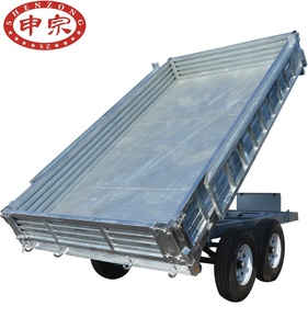 hot dipped galvanized cheap hydraulic atv tipping trailer gal steel trailer