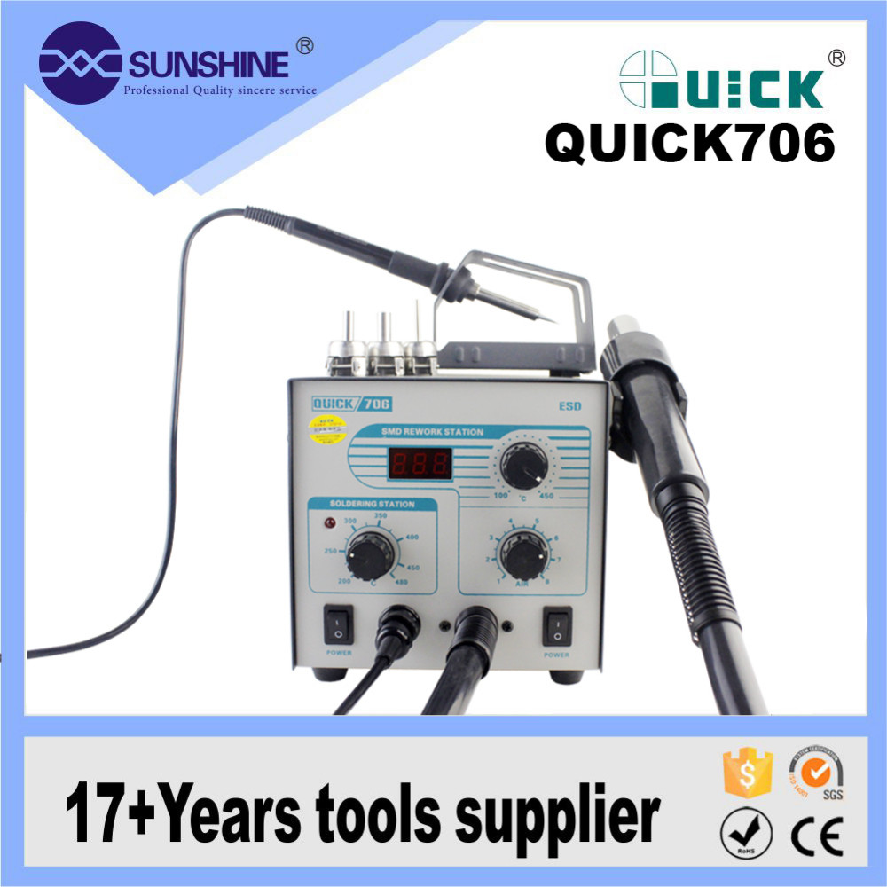 Cost Of Soldering Wire | Cost Effective Quick 706 2 In 1 Hot Air Rework Soldering Iron