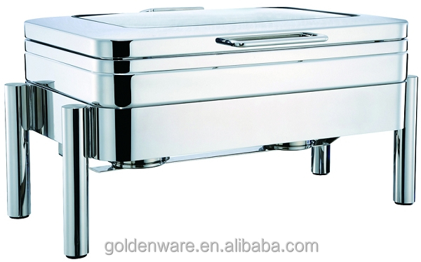 Golden Ware High Mirror Polishing buffet Restaurant Serving Stainless Steel Chafing Dish