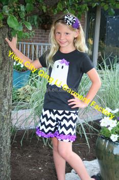 Custom Bulk Wholesale Baby Girl Halloween Outfits Girls Ghost Halloween Shirt and Chevron Shorts Kids Matching  sc 1 st  Alibaba & Custom Bulk Wholesale Baby Girl Halloween Outfits Girls Ghost ...