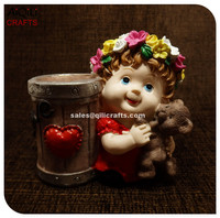 Promational Hotsale Christmas Angel Candle Holders Resin Crafts