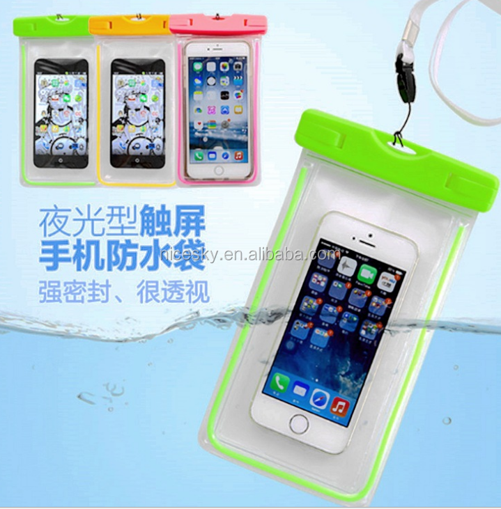 Hot new products waterproof cell phone cases, PVC mobile phone waterproof bag for samrtphone