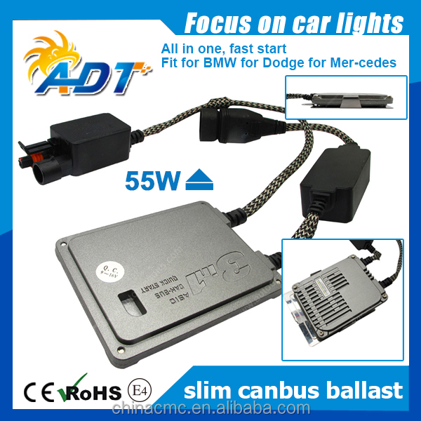 Long Warranty 55W 35W HID adjustable xenon ballast 0.1second lighting up xenon HID fast start ballast for bmw