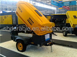 Atlas Copco low price 185 cfm diesel air compressor