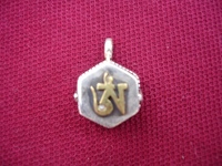 Tibetan Gau Box- 925 Sterling Silver Ohm Prayer Box Ghau Pendant