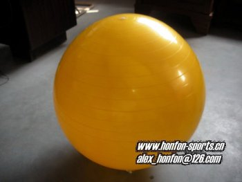 pearl yellow Yoga ball