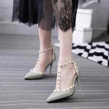 LM3375Q new pointed shoes fashion ladies 9.5cm heeled shoes big size sexy woman high heel shoes