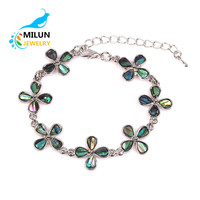 Wholesale Natural shell flower adjustable chain bracelets