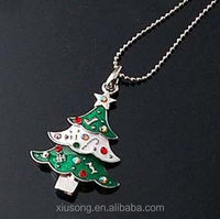 Christmas decorations alloy Enamel Christmas Tree Charms Pendants new design