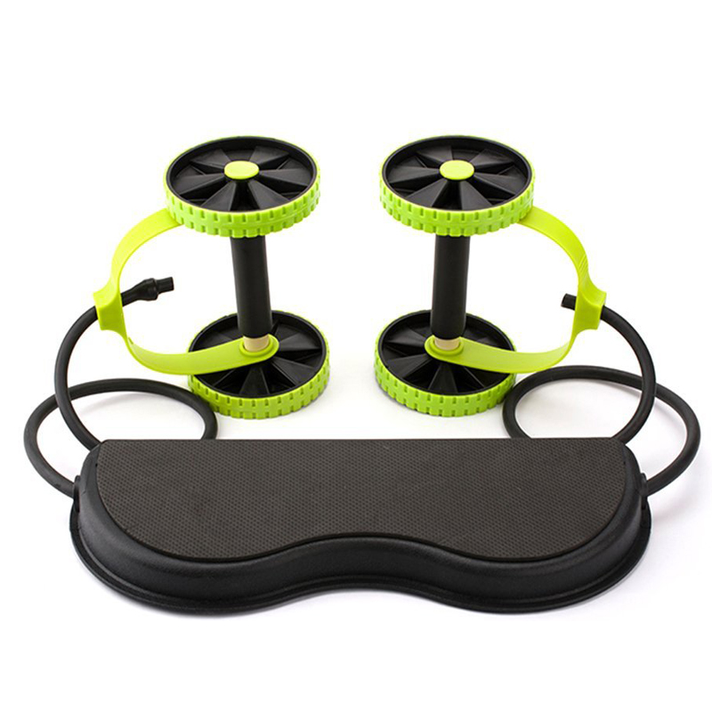 New ab core trainer / double Thin Waist <strong>Fitness</strong> Slimming abdominal Workout Rollers / Integrated Gym Trainer for home gym