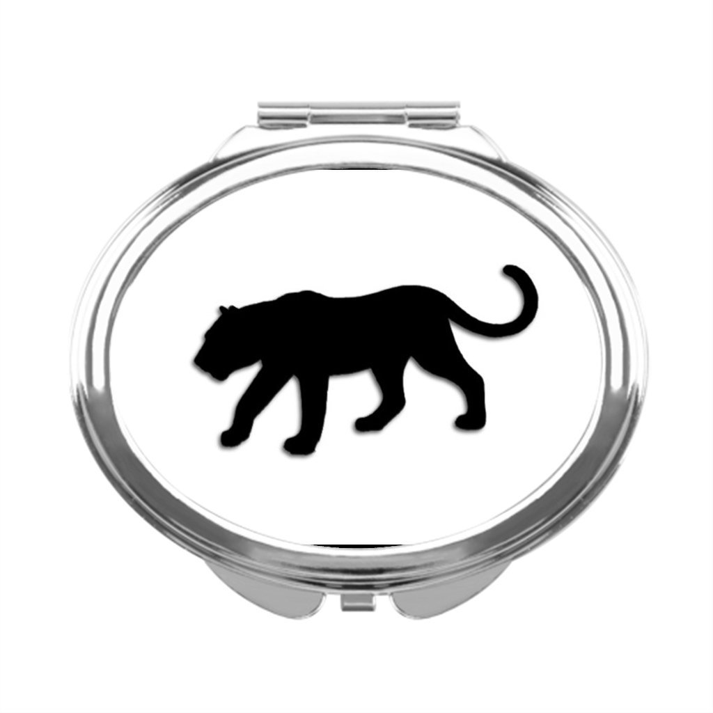TeddyQue Makeup Vanity With Mirror Black Cat Dressing Mirror Wildlife Personalized Compact Mirror